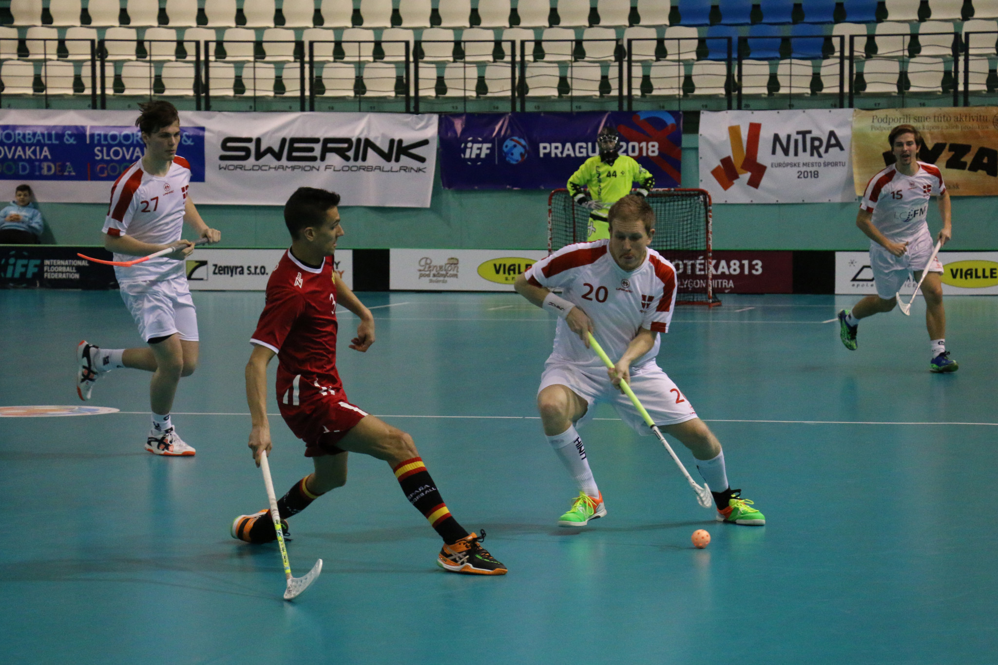 Denmark move to top of group at IFF European Floorball World Championship qualifiers