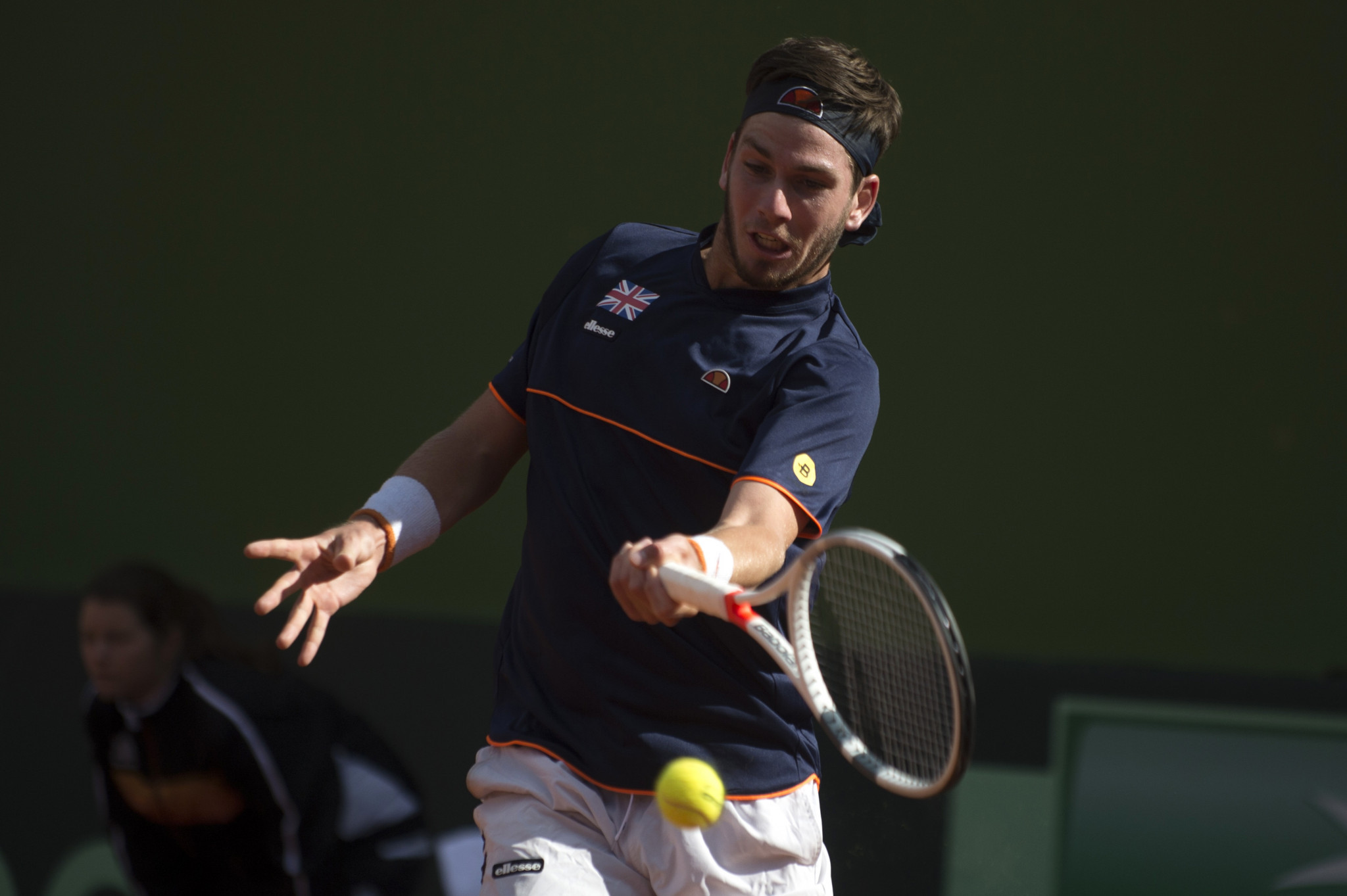 Cameron Norrie defied the odds to beat Roberto Bautista Agut and bring Great Britain back on level terms with Spain ©Getty Images