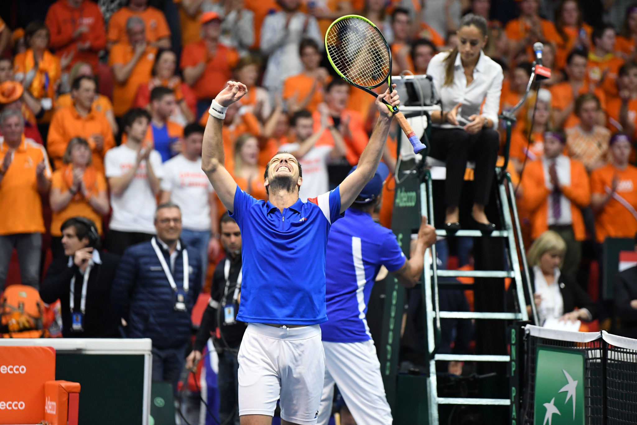 Defending champions France level with Netherlands after first day of Davis Cup World Group tie