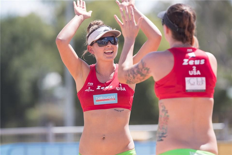 Jace Pardon and Caitlin Ledoux are one of two American pairings in the semi-finals ©FIVB