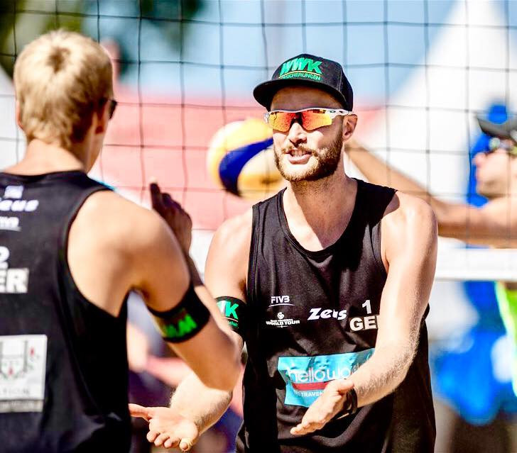 Armin Dollinger and Simon Kulzer are the only German team in the semi-finals of either the men's or women's tournament ©Beachvolleyballteam Dollinger-Kulzer/Facebook