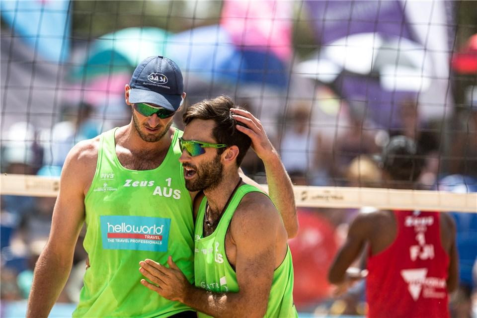 Christopher McHugh and Damien Schumann are the favourites for the tournament ©FIVB