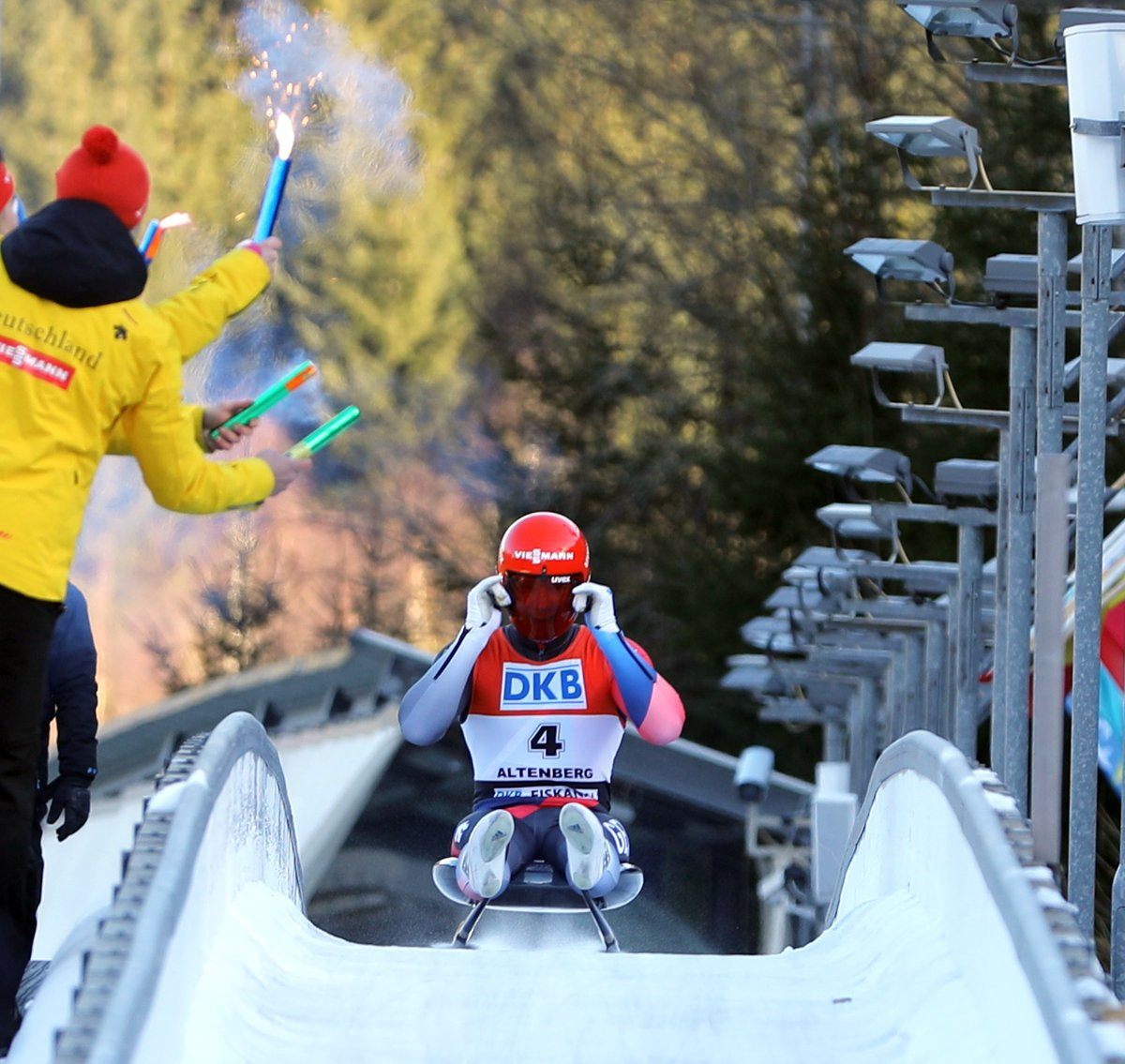 Max Langenhan helped Germany to the team title in Altenberg ©Twitter