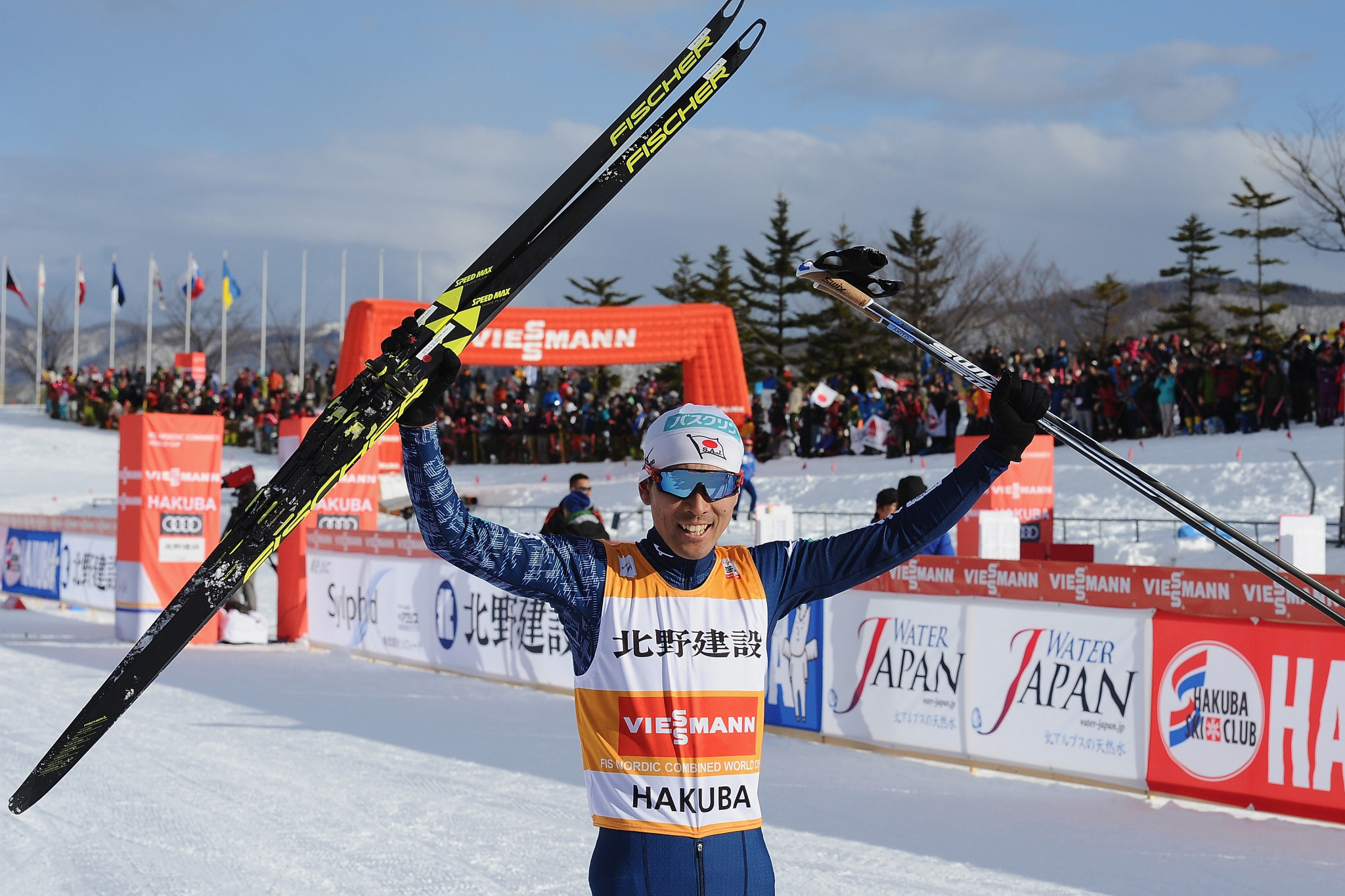 Japan's Watabe claims home victory at FIS Nordic Combined World Cup in Hakuba