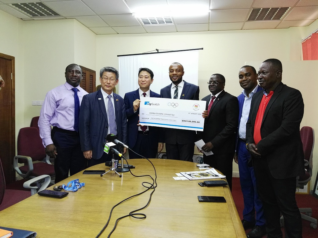 PaySwitch Company Ltd have given the Ghana Olympic Committee funding to support Akwasi Frimpong in Pyeongchang ©GOC