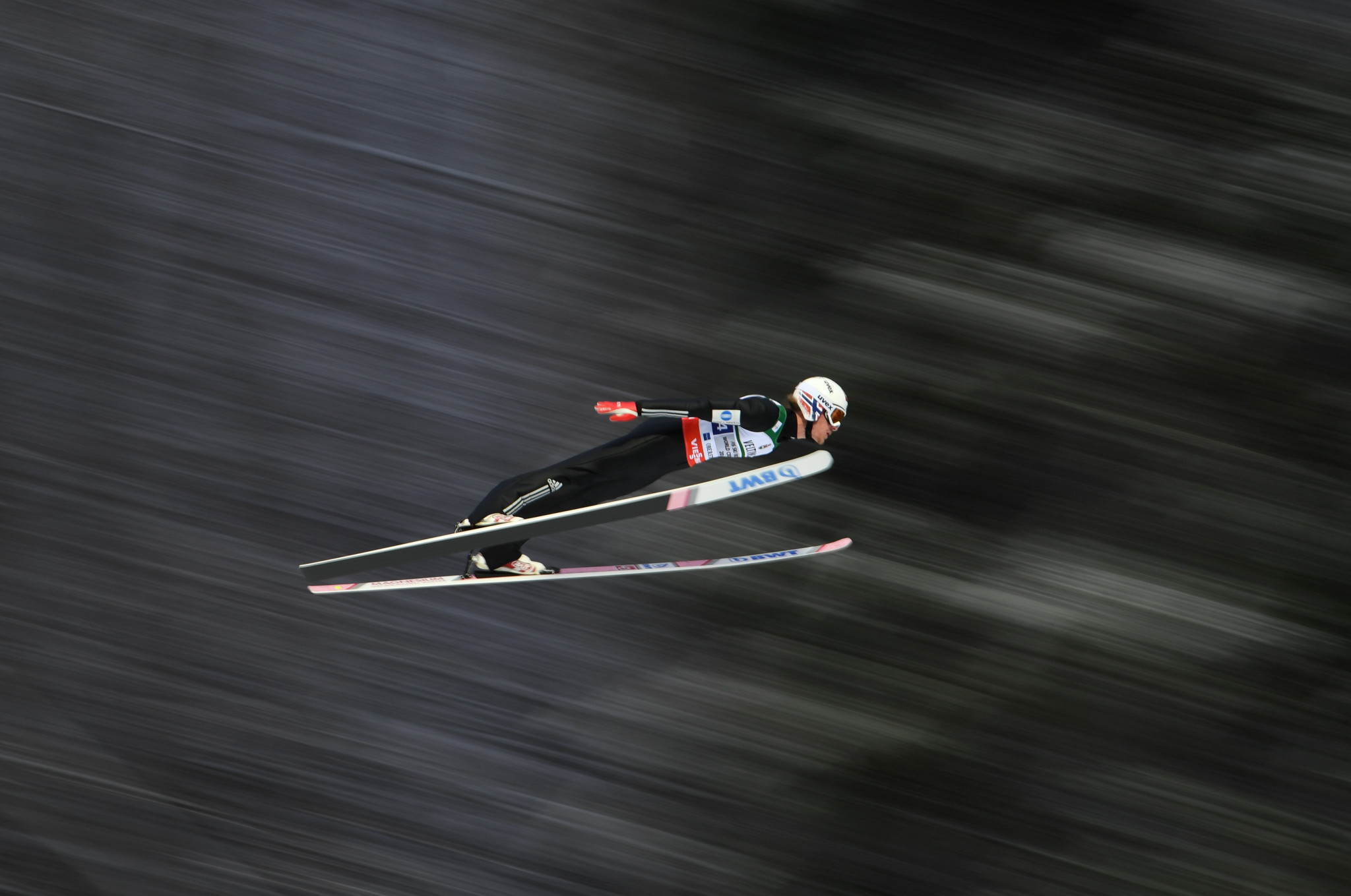 Norway's Daniel Andre Tande held off the challenge of home favourite Richard Freitag to claim his first victory of the FIS Ski Jumping World Cup season in Willingen in Germany today ©Getty Images