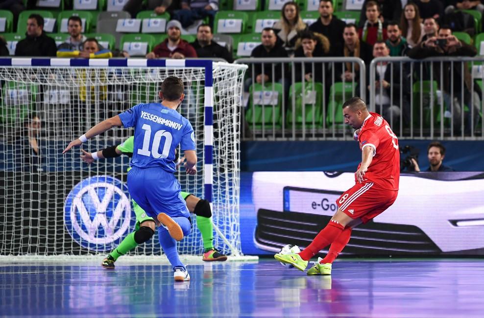 Eder Lima scored Russia's goal against Kazakhstan ©UEFA