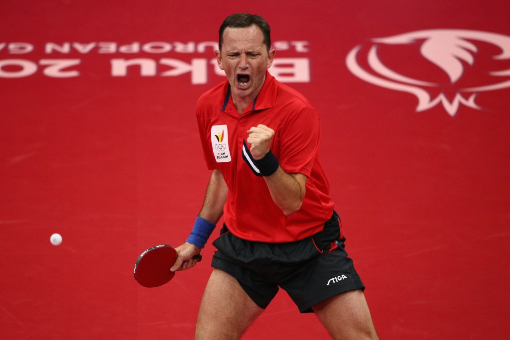Jean-Michel Saive, pictured playing at June's European Games in Baku has called for wide participation in the first European Week of Sport ©Getty Images