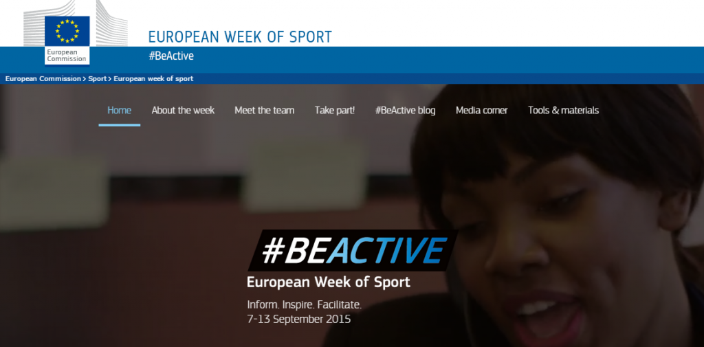 The first European Week of Sport is set to take place across 33 nations from September 7 to 13 ©European Week of Sport
