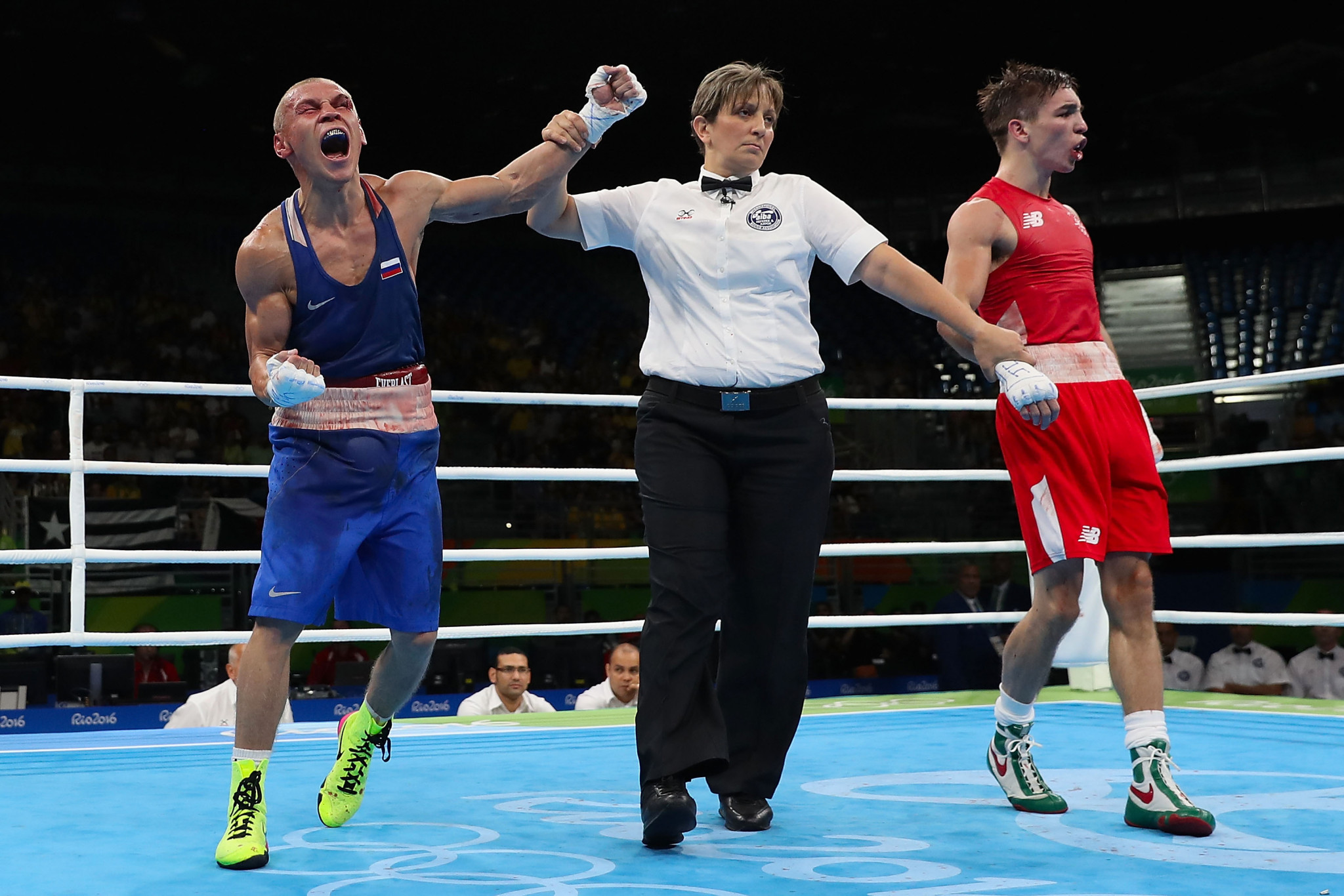 Ireland's Michael Conlan, right, was among those to controversially lose his bout at Rio 2016 ©Getty Images