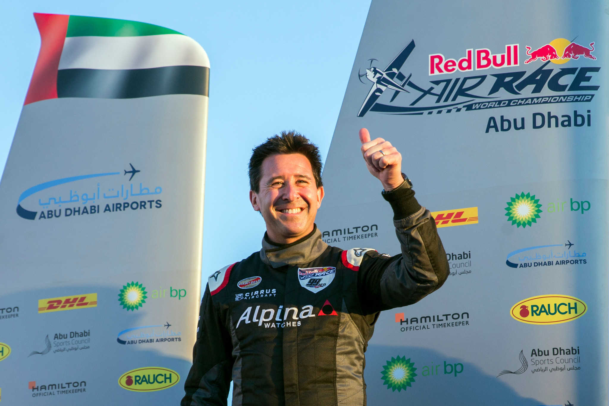Goulian wins opening event of Red Bull Air Race World Championship in Abu Dhabi