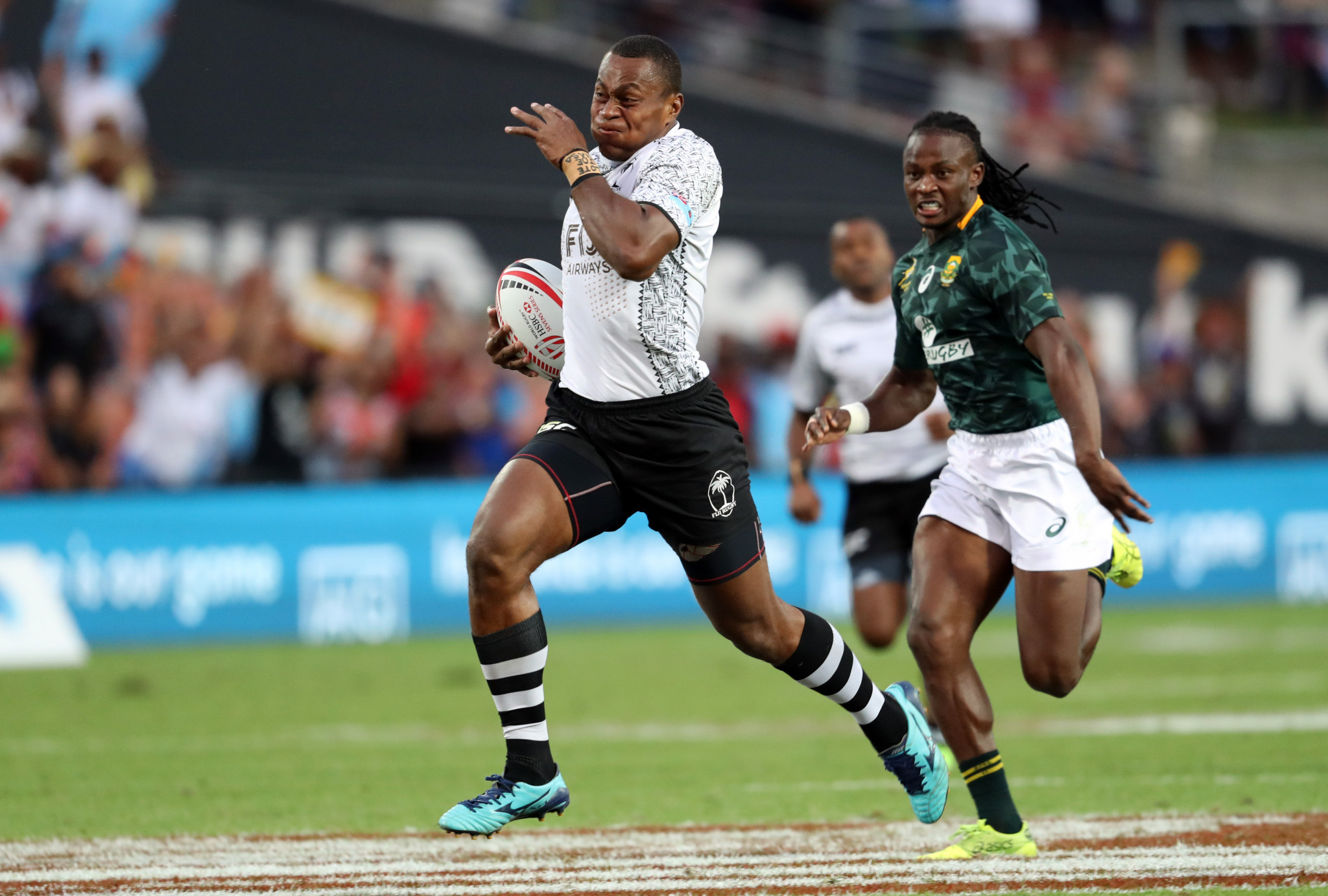 Fiji fightback to stun South Africa in final of World Rugby Sevens Series event in Hamilton