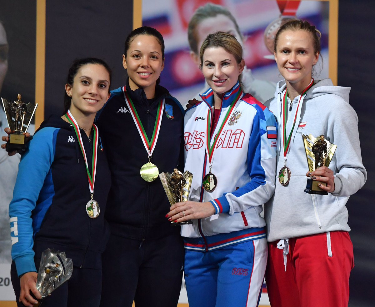 Alice Volpi triumphed in the women's foil event in Algeria ©FIE