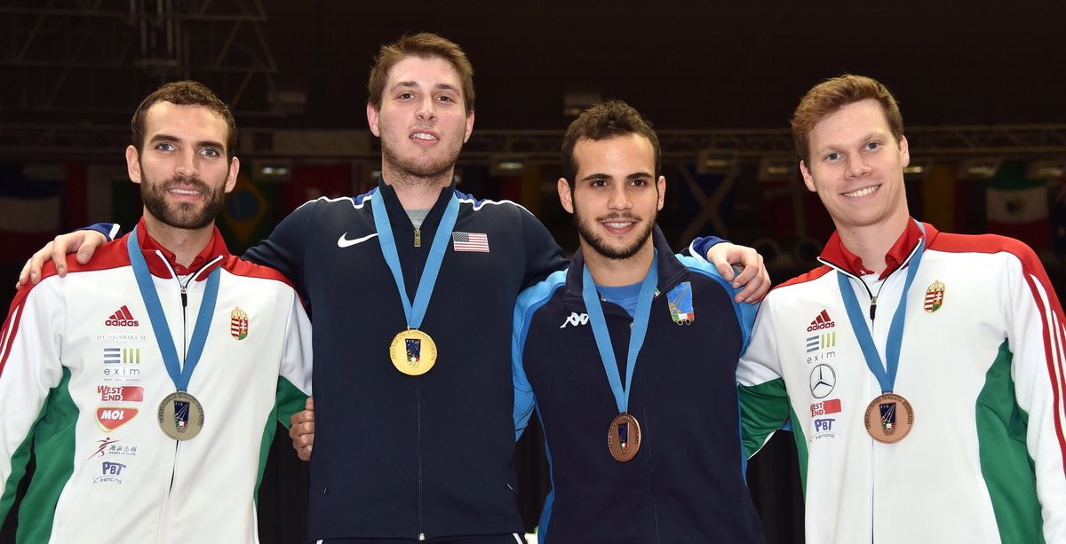 Eli Dershwitz won the men's sabre World Cup in Padoue ©FIE