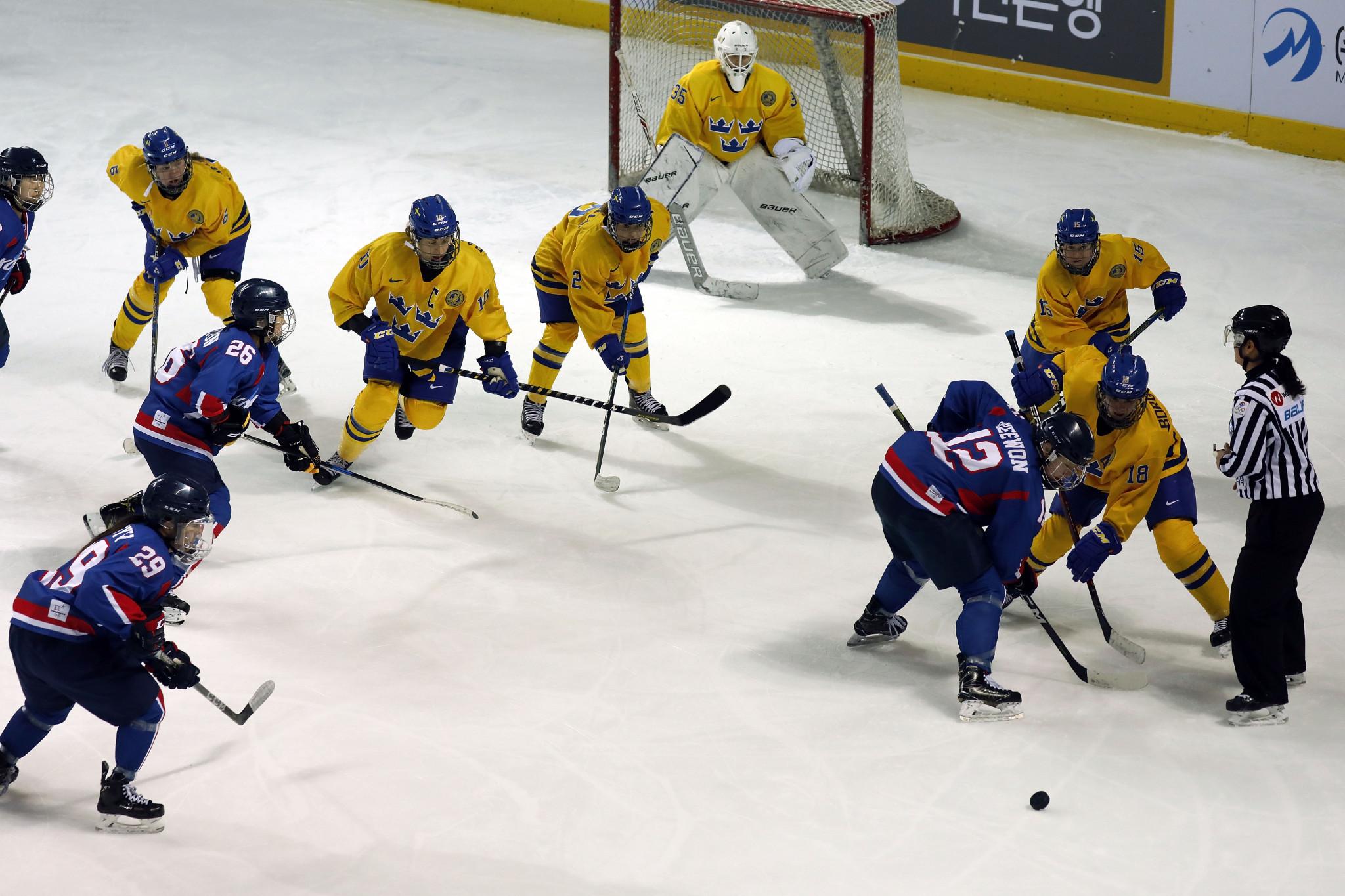 Korean women's ice hockey team lose Pyeongchang 2018 warm-up game