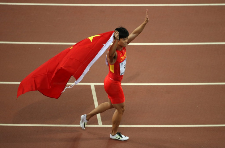 100m finalist Bingtian Su, with hair uncut, a new standard bearer for Chinese athletics ©Getty Images