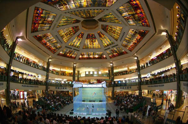The International Masters Squash Open in Orlando will feature a portable all-glass court ©WSF