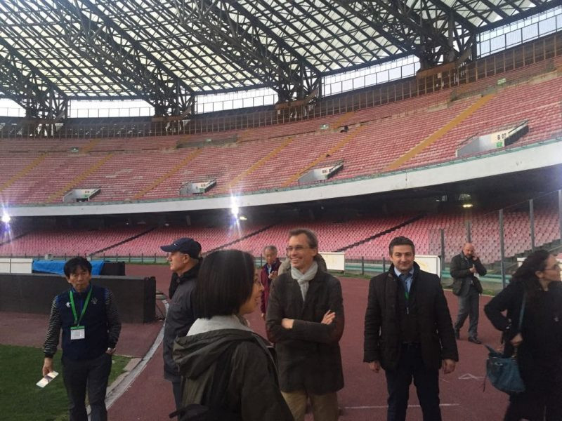 The San Paolo stadium, home of football club Napoli, was among the venues visited by inspectors in the Italian city checking on preparations for next year's Summer Universiade ©Naples 2019