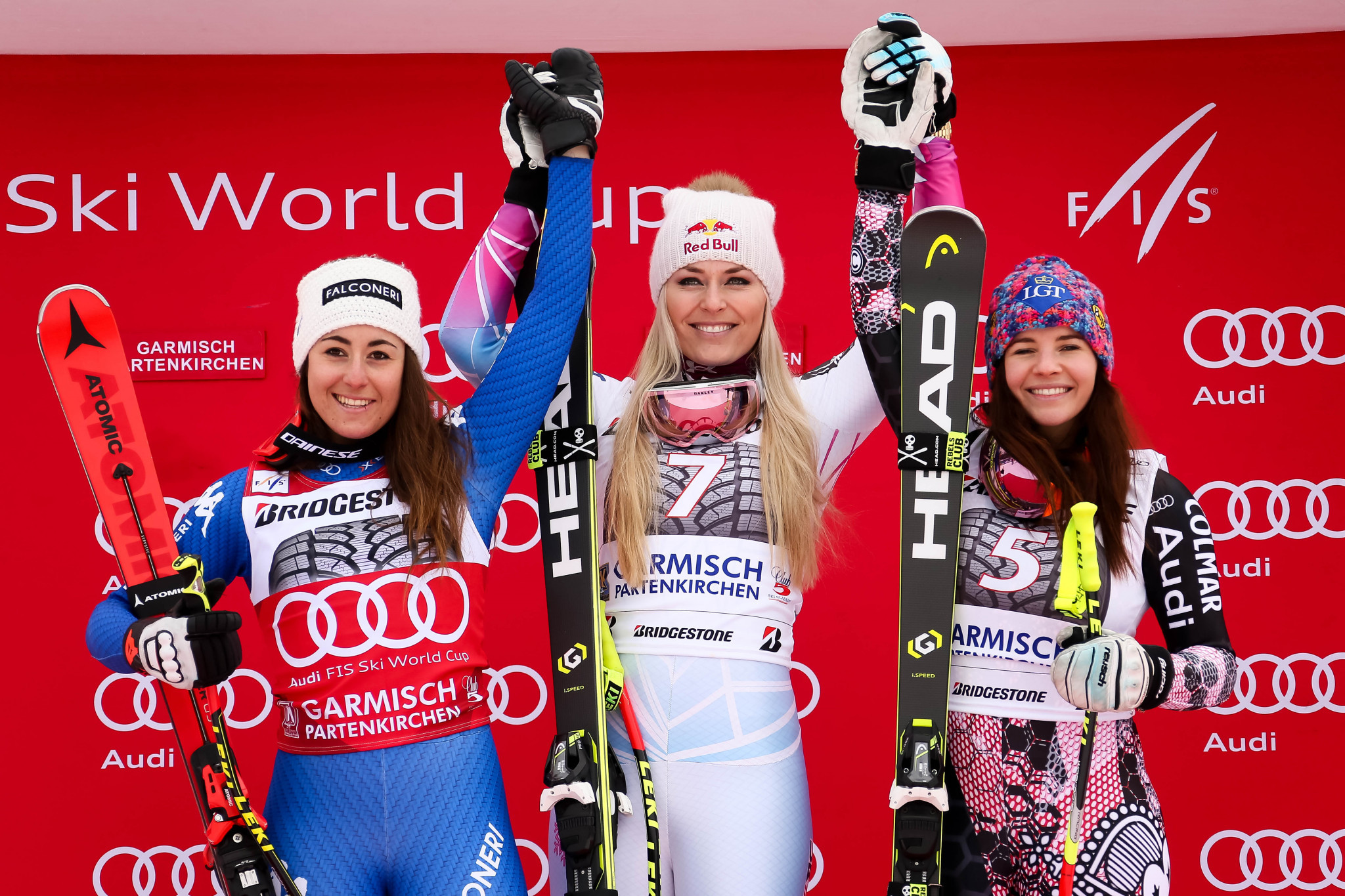 Vonn moves to 81 World Cup wins but another US colleague crashes at Garmisch-Partenkirchen