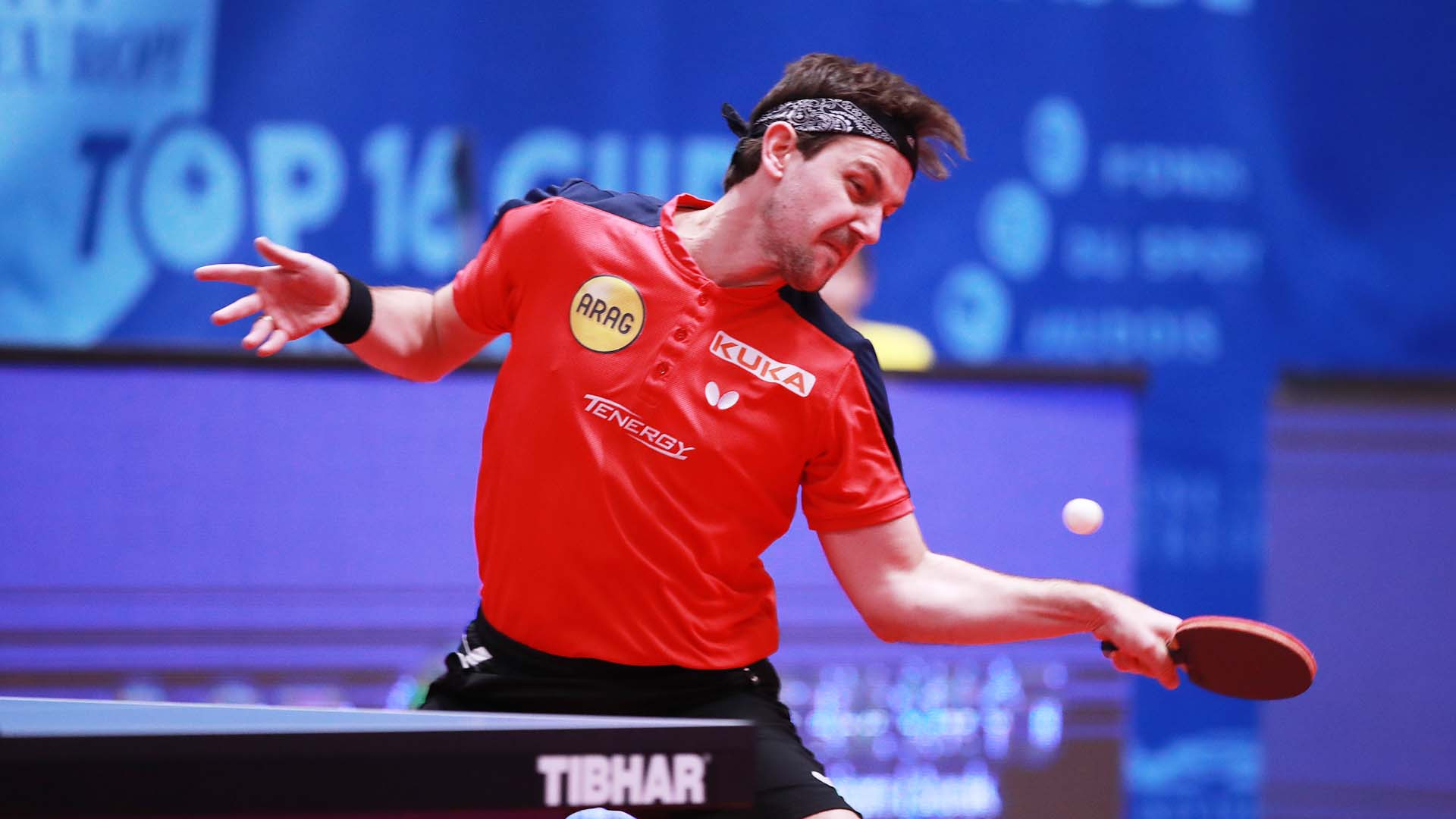Germany's 36-year-old Timo Boll earned a sixth ITTF Europe Top 16 victory in Montreux ©Getty Images
