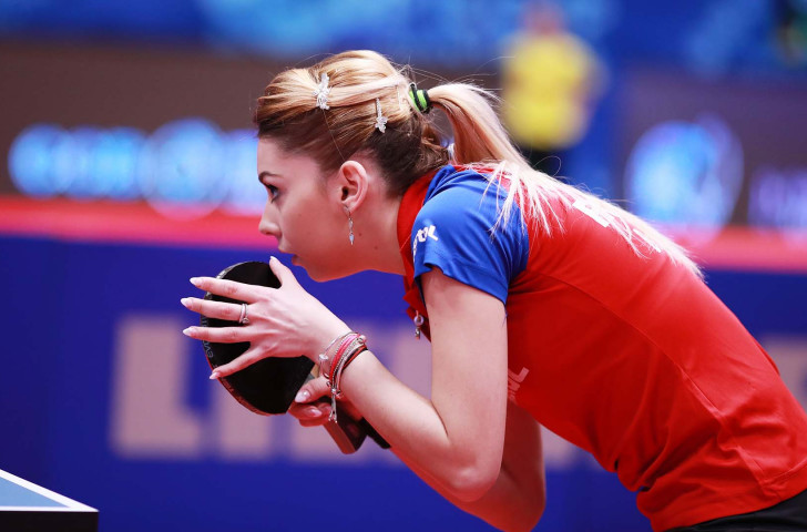 Romania's number eight seed Bernadette Szőcs earned a shock win over defending champion Li Jie of The Netherlands in the final of the ITTF Europe Top 16 event in Montreux ©Getty Images