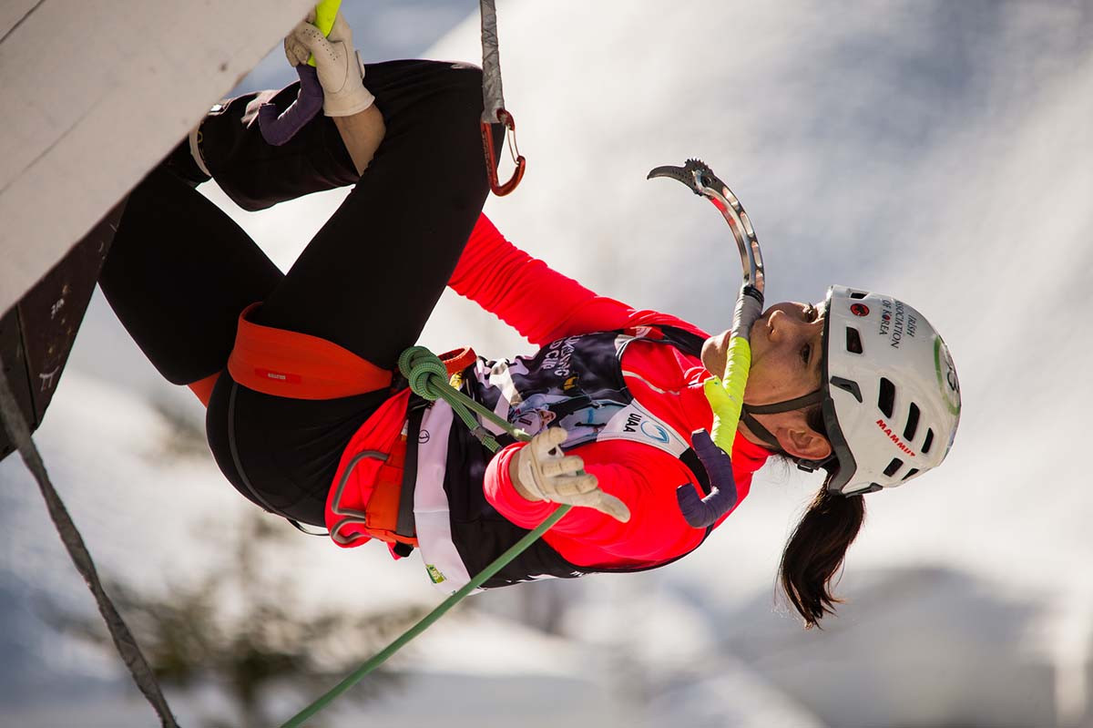 South Korea's Shin steps up to win lead UIAA Ice Climbing World Cup in Hohhot