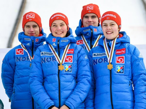 Norway take mixed team ski jumping title on final day of FIS Nordic Junior World Ski Championships