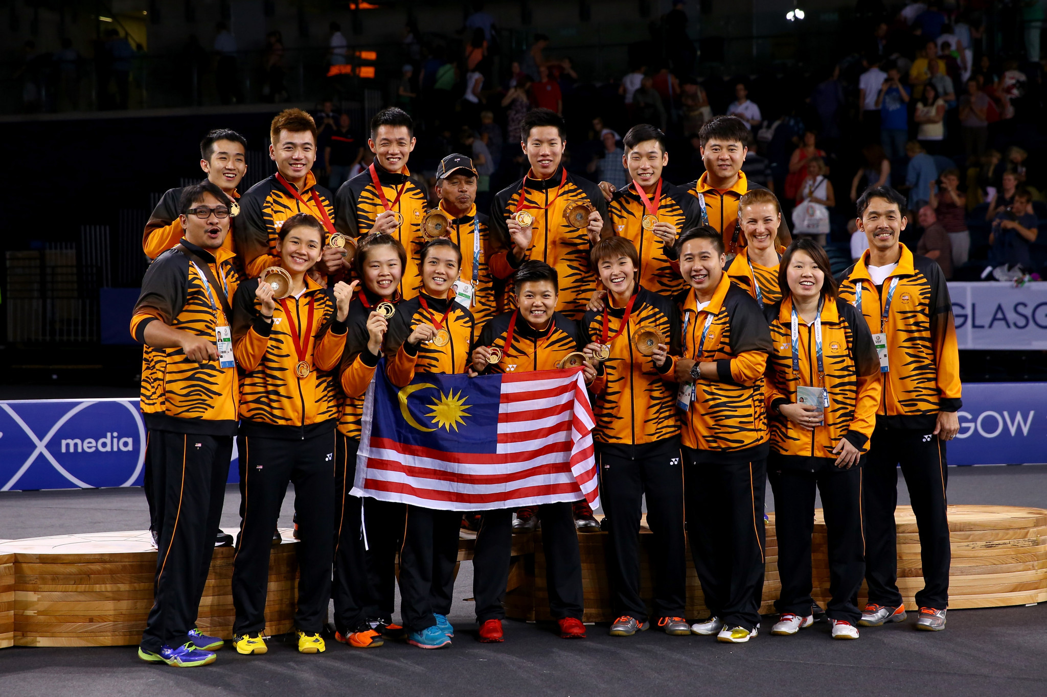 Malaysia won the mixed team event at the Glasgow 2014 Commonwealth Games ©Getty Images