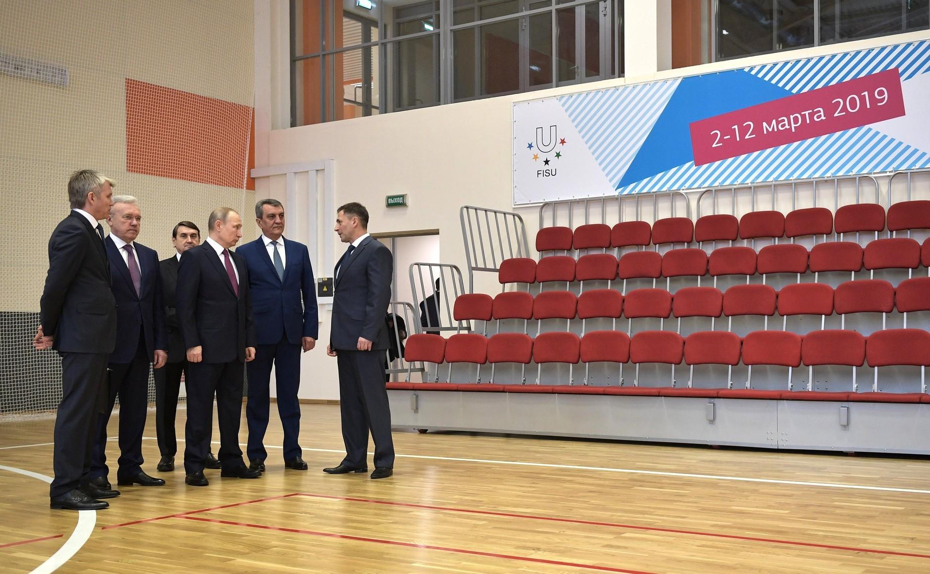 Vladimir Putin visited several Krasnoyarsk 2019 venues ©Kremlin.ru
