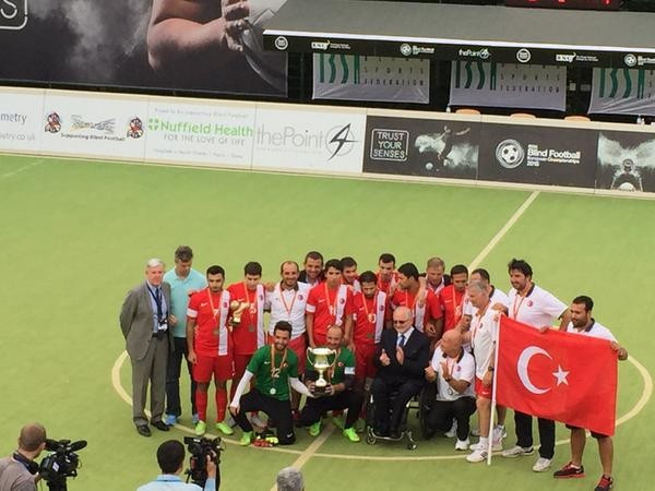 Turkey seal IBSA Blind Football European Championships crown with narrow victory over Russia