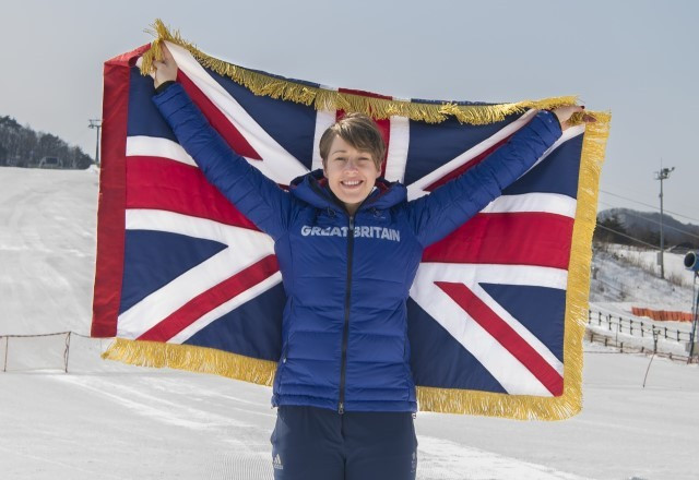 Lizzy Yarnold will carry the British flag at the Opening Ceremony ©BOA