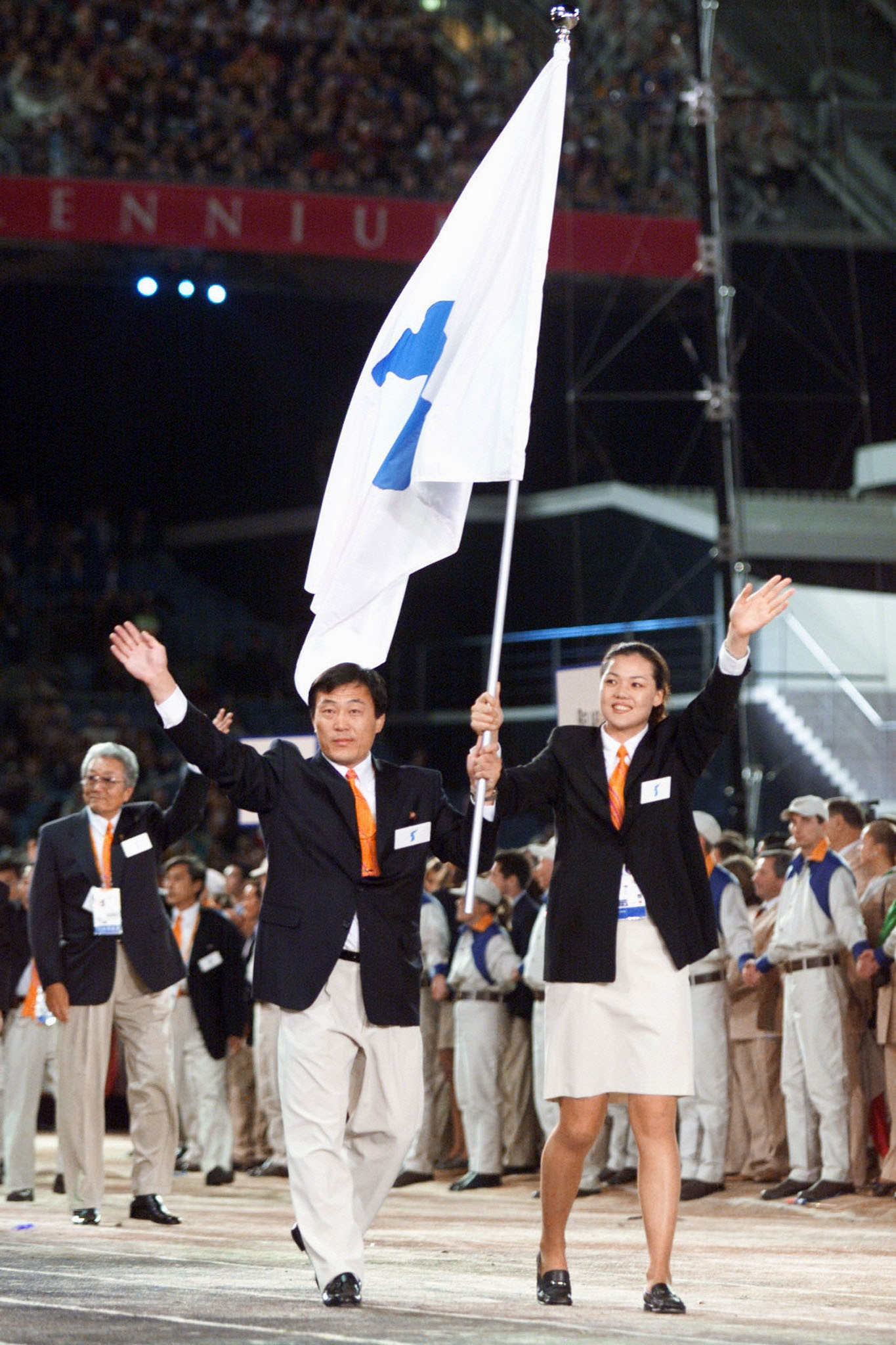 North and South Korea are set to march together at the Opening Ceremony of the Pyeongchang 2018 Winter Olympics, just as they did at the curtain raiser for the Sydney 2000 Games ©Getty Images