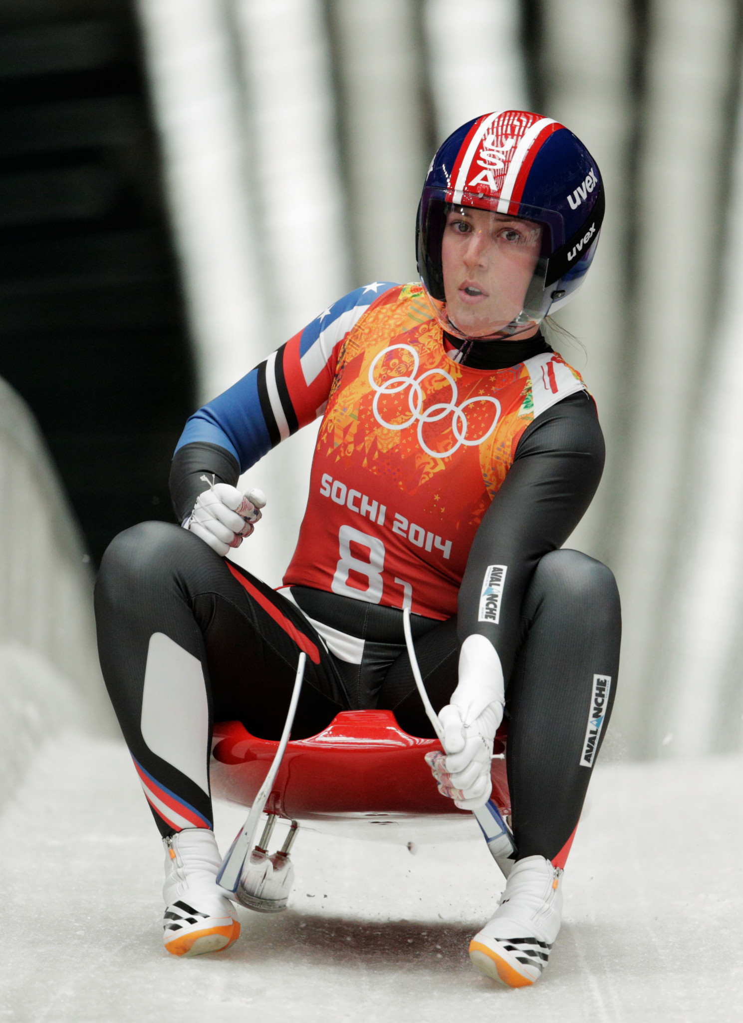 Erin Hamlin won an Olympic bronze medal at Sochi 2014 ©Getty Images
