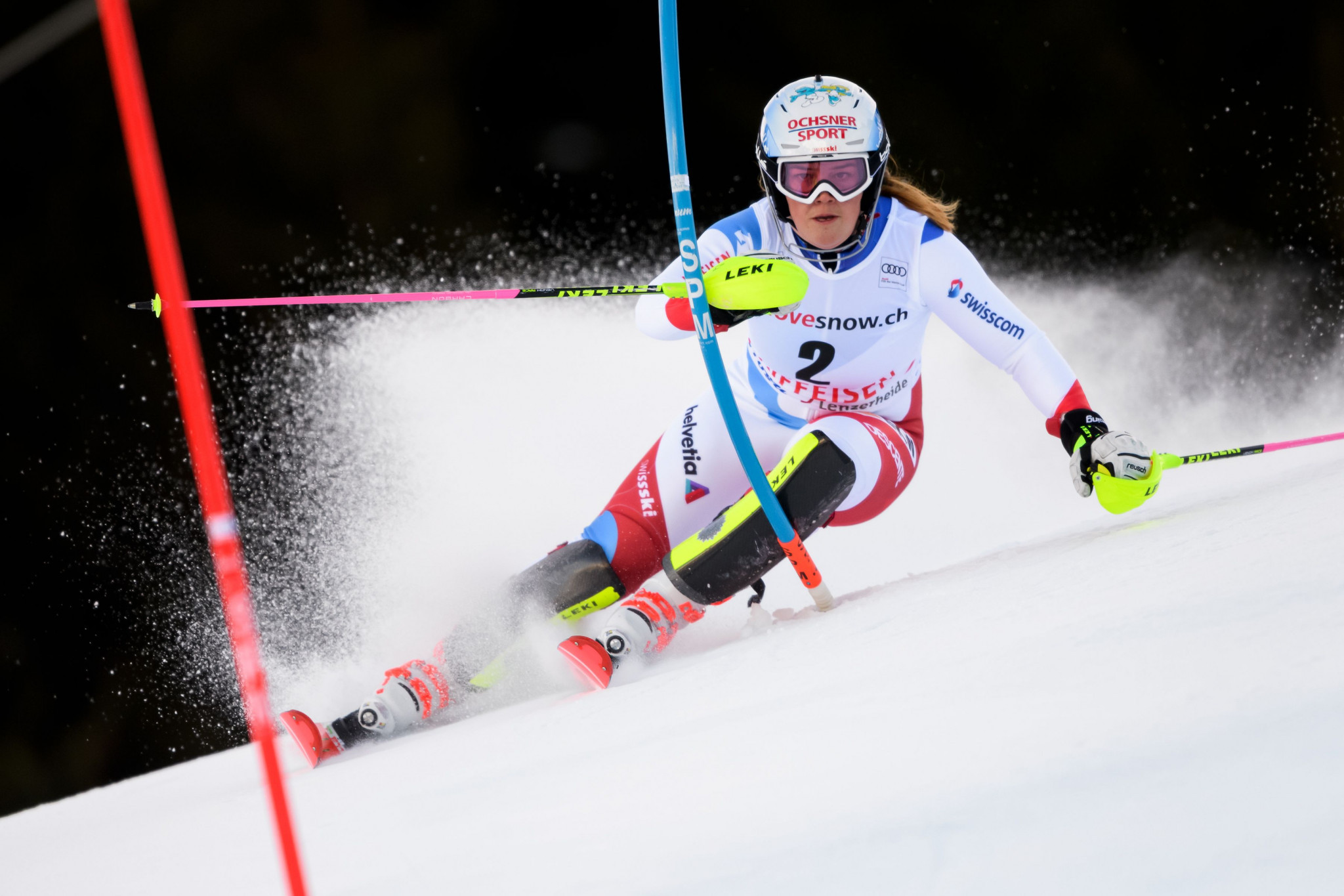 Melanie Meillard gained her first World Cup podium finish in January ©Getty Images