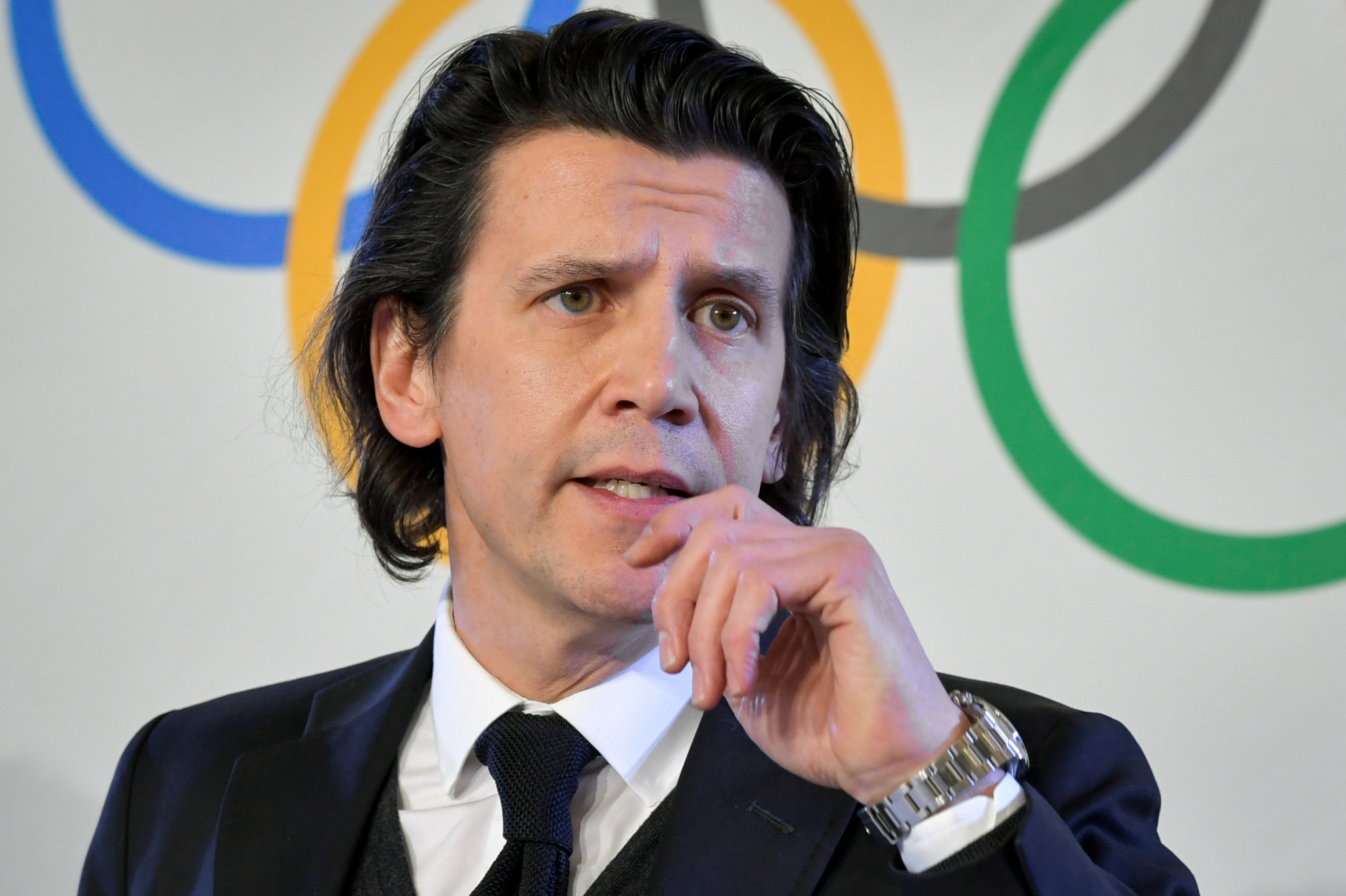 IOC Executive Director for the Olympic Games, Christophe Dubi, was among those to visit Calgary ©Getty Images