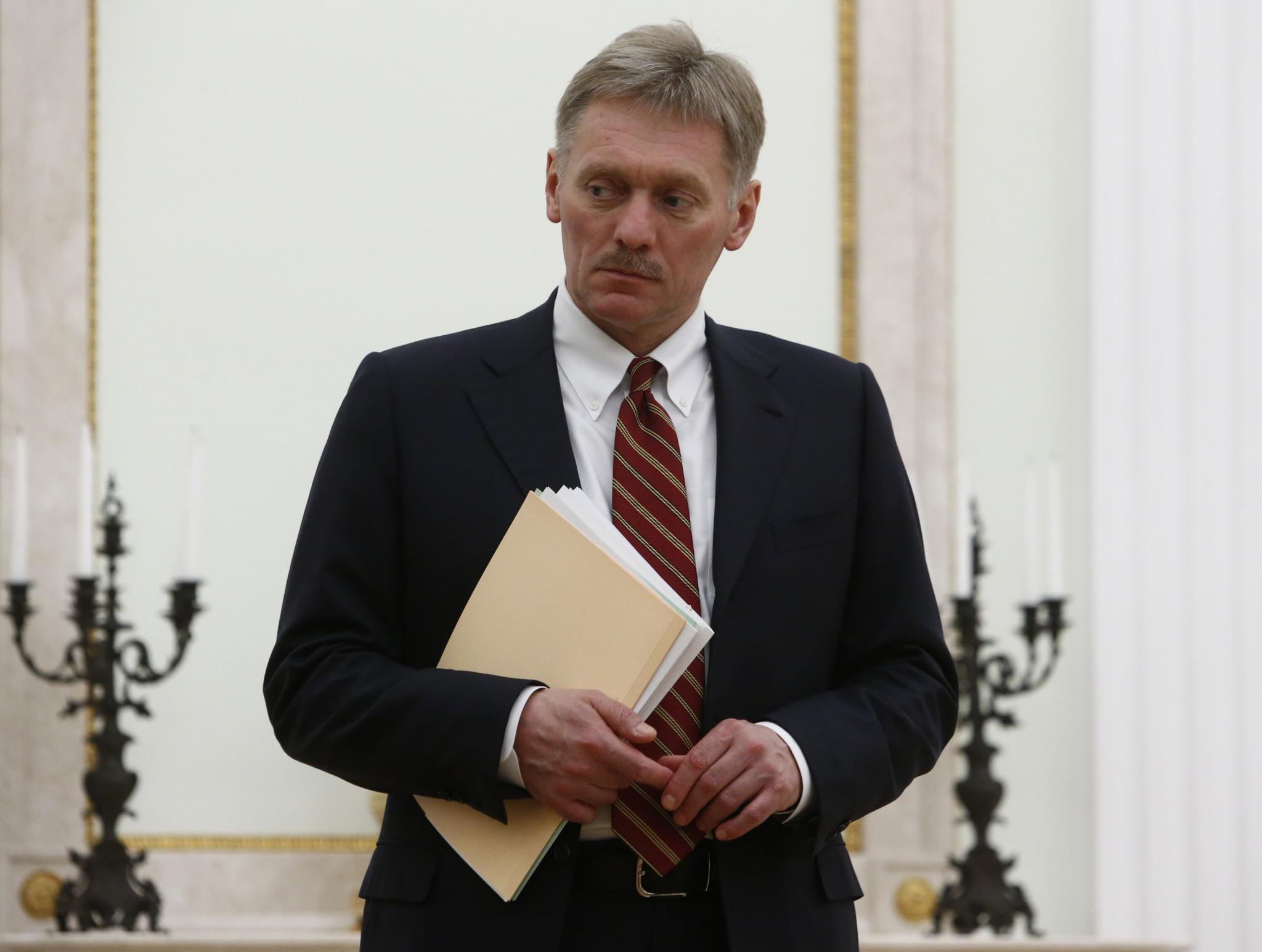 Kremlin spokesperson Dmitry Peskov said they are