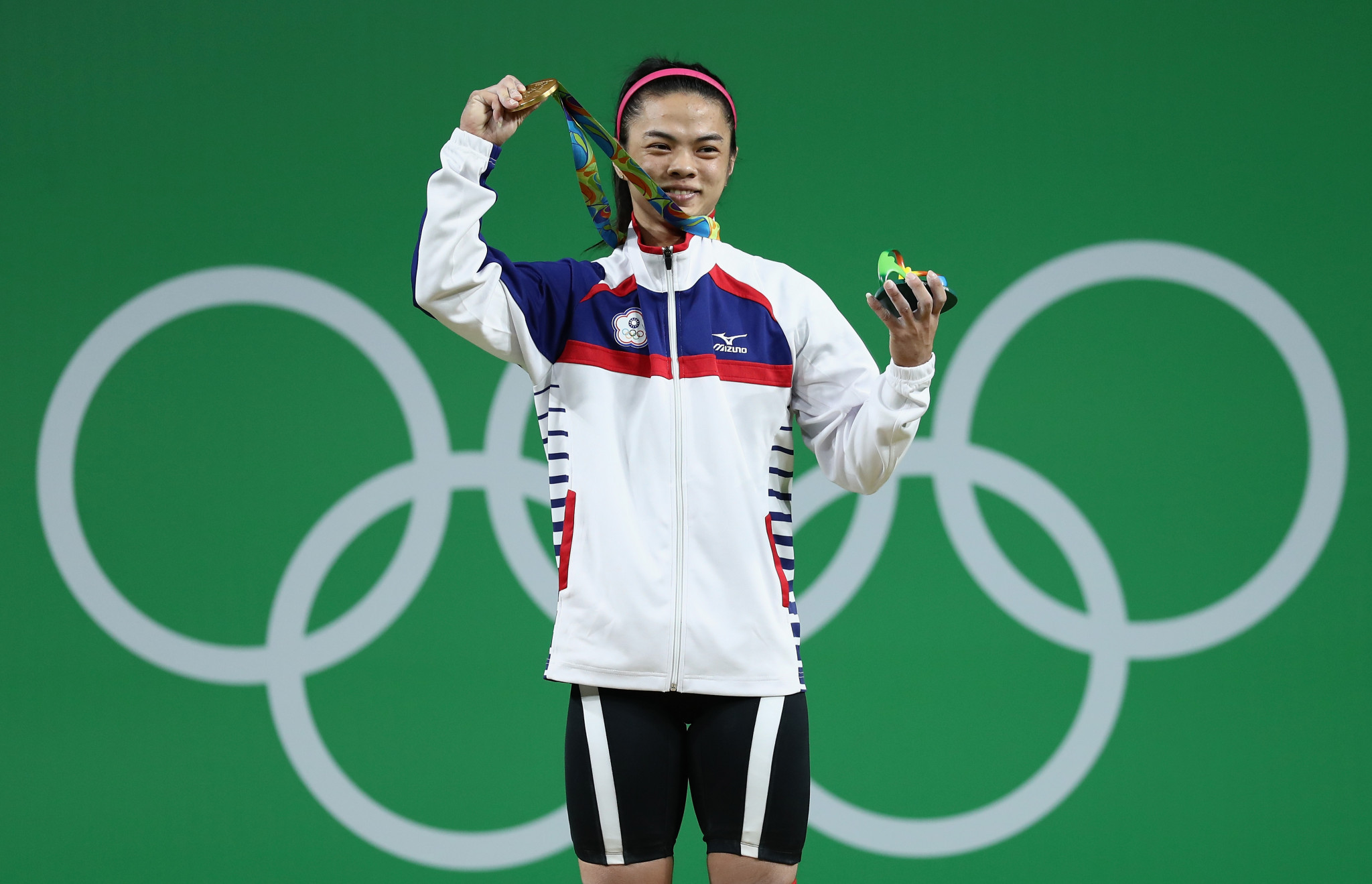 Chinese Taipei's Hsu Shu-ching won an Olympic gold medal gold in weightlifting at Rio 2016 ©Getty Images