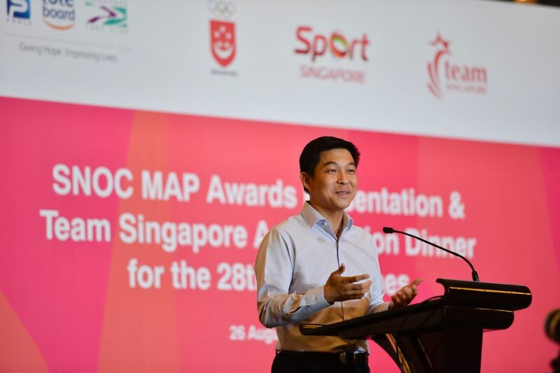 SNOC President Tan Chuan-Jin was in attendance to hand out the awards and praised the achievements of their athletes at the Southeast Asian Games