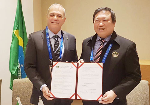 Chinese Taipei and Brazil signed a Memorandum of Understanding in the run-up to Pyeongchang 2018 ©OCA