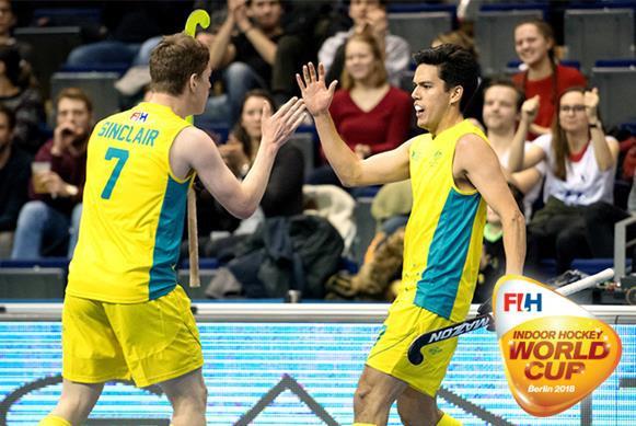 Australia's men earn first semi-final spot in FIH Indoor Hockey World Cup
