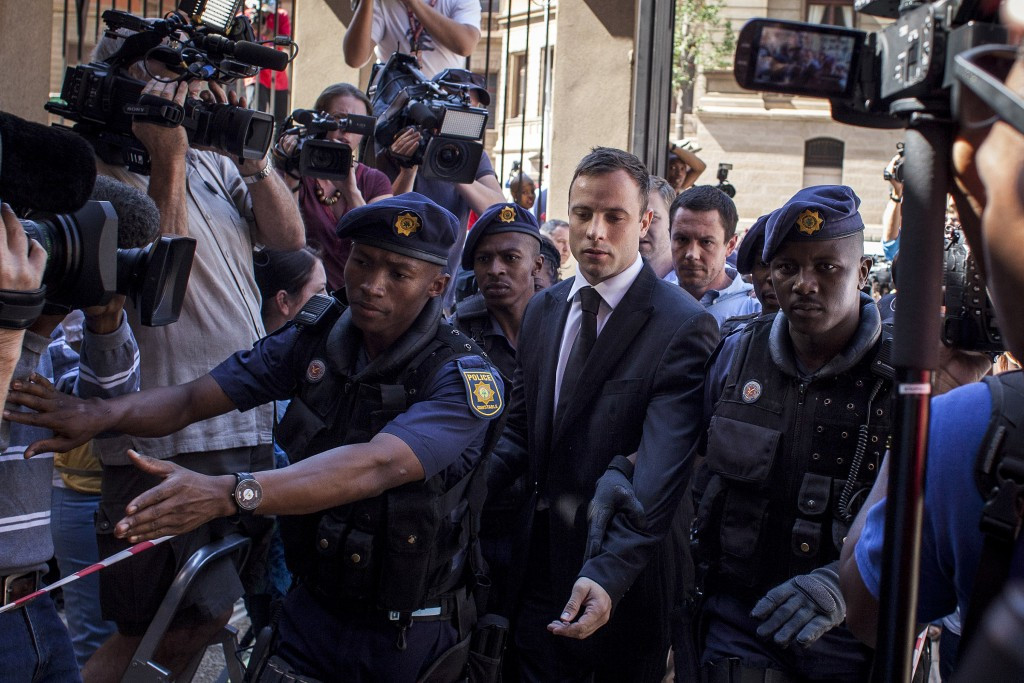 Oscar Pistorius received a five-year prison sentence for culpable homicide last year