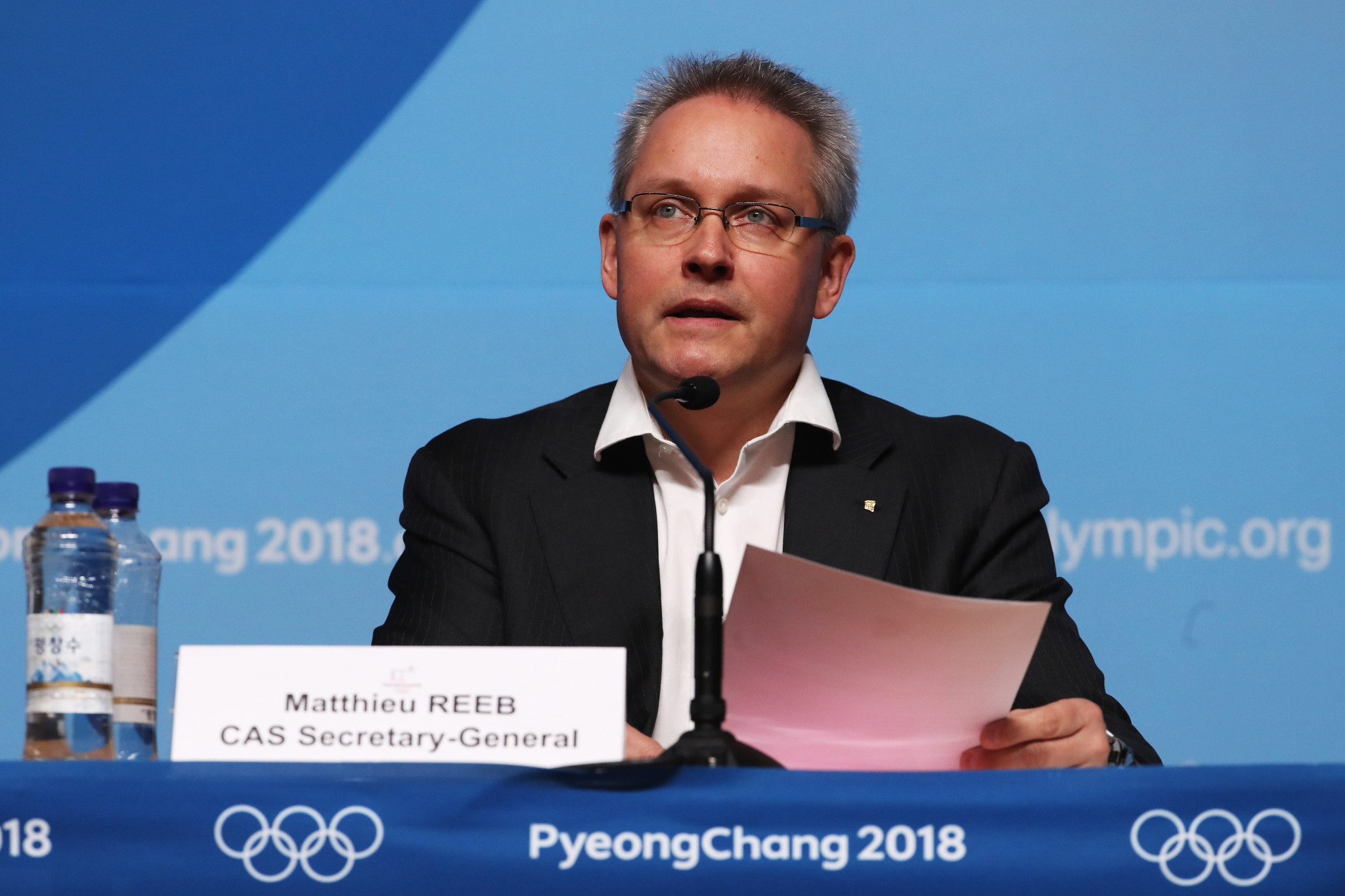 The Court of Arbitration for Sport, whose secretary general Matthieu Reeb is pictured, yesterday dismissed the appeals of all 45 Russian athletes hoping to be cleared to compete at Pyeongchang 2018 ©Getty Images