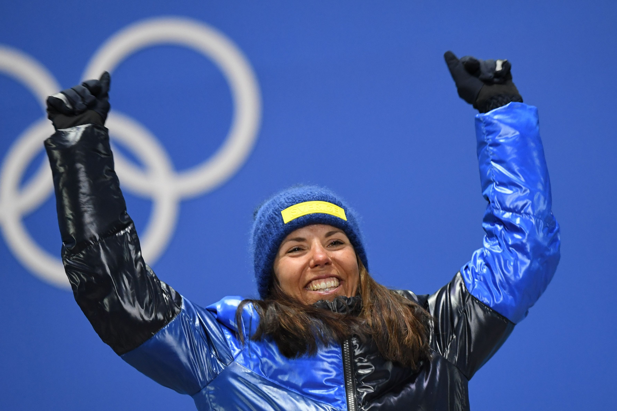 Sweden's Charlotte Kalla claimed the first gold medal of the Pyeongchang 2018 Winter Olympic Games after winning the women's 7.5 kilometres + 7.5km skiathlon event today ©Getty Images