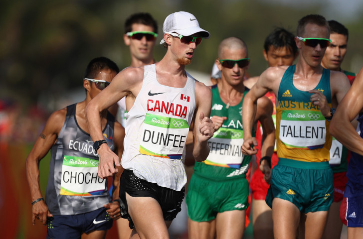 Canada's Evan Dunfee is in promising form going into tomorrow's IAAF Race Walking Challenge event in Adelaide ©Getty Images