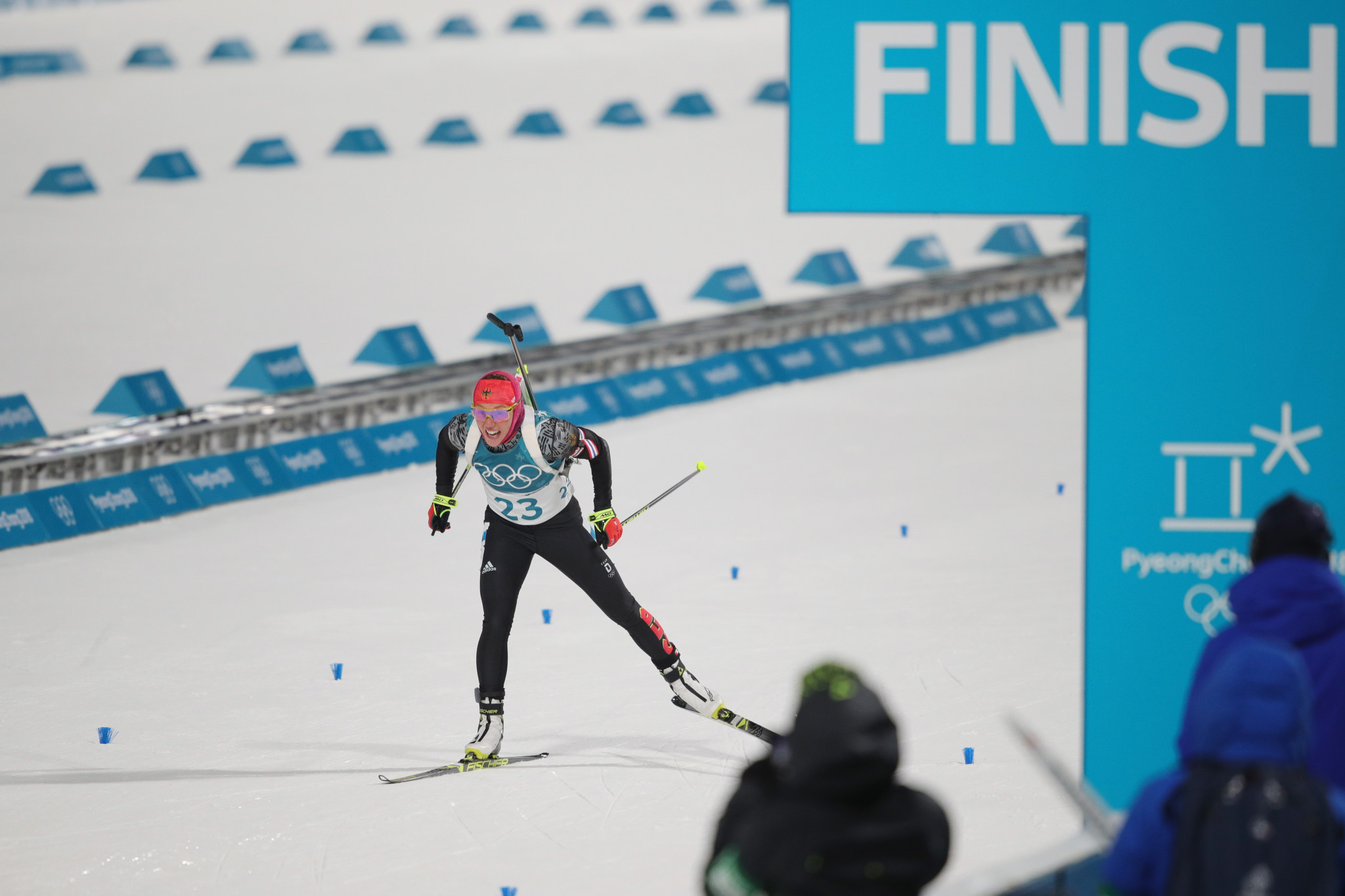 Dominant Dahlmeier secures first Winter Olympic title with sprint success at Pyeongchang 2018