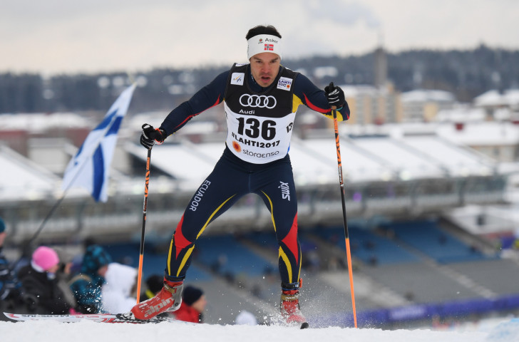 Klaus Jungbluth Rodriguez, pictured during last year's FIS Nordic World Ski Championships, will be the first athlete representing Ecuador at a Winter Olympics when he competes in Pyeongchang ©Getty Images