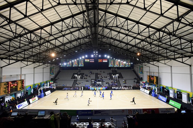 Electrical problem delays basketball action at Asian Games 2018 test event
