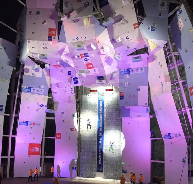 South Koreans dominate lead qualification at UIAA Ice Climbing World Cup in Cheongsong