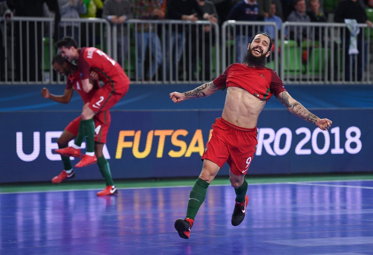 Portugal claim extra-time win over Spain to win maiden UEFA Futsal Championship title