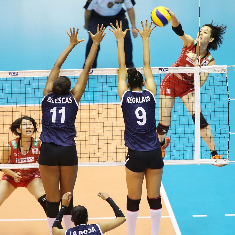 Japan launch an attack en route to victory as the FIVB Women's World Cup resumed ©FIVB